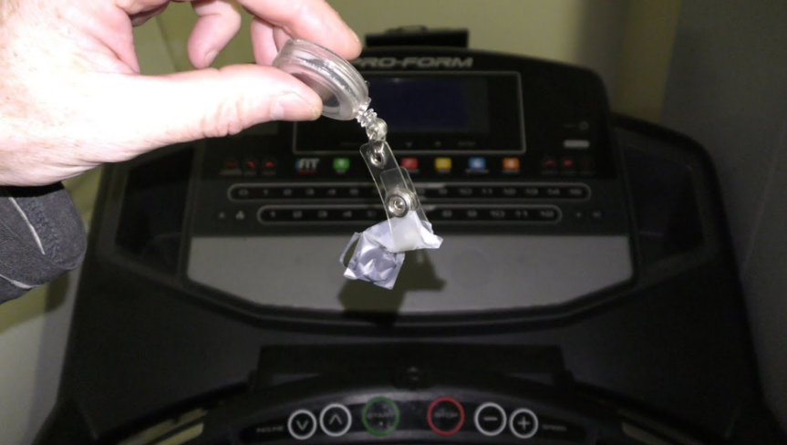 Treadmill and Remove the Safety Key